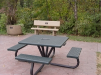 Metal Picnic Table for River Walk Area