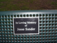 Metal Bench with Name Plaque