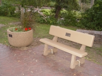 Planter with Bench along the River Walk