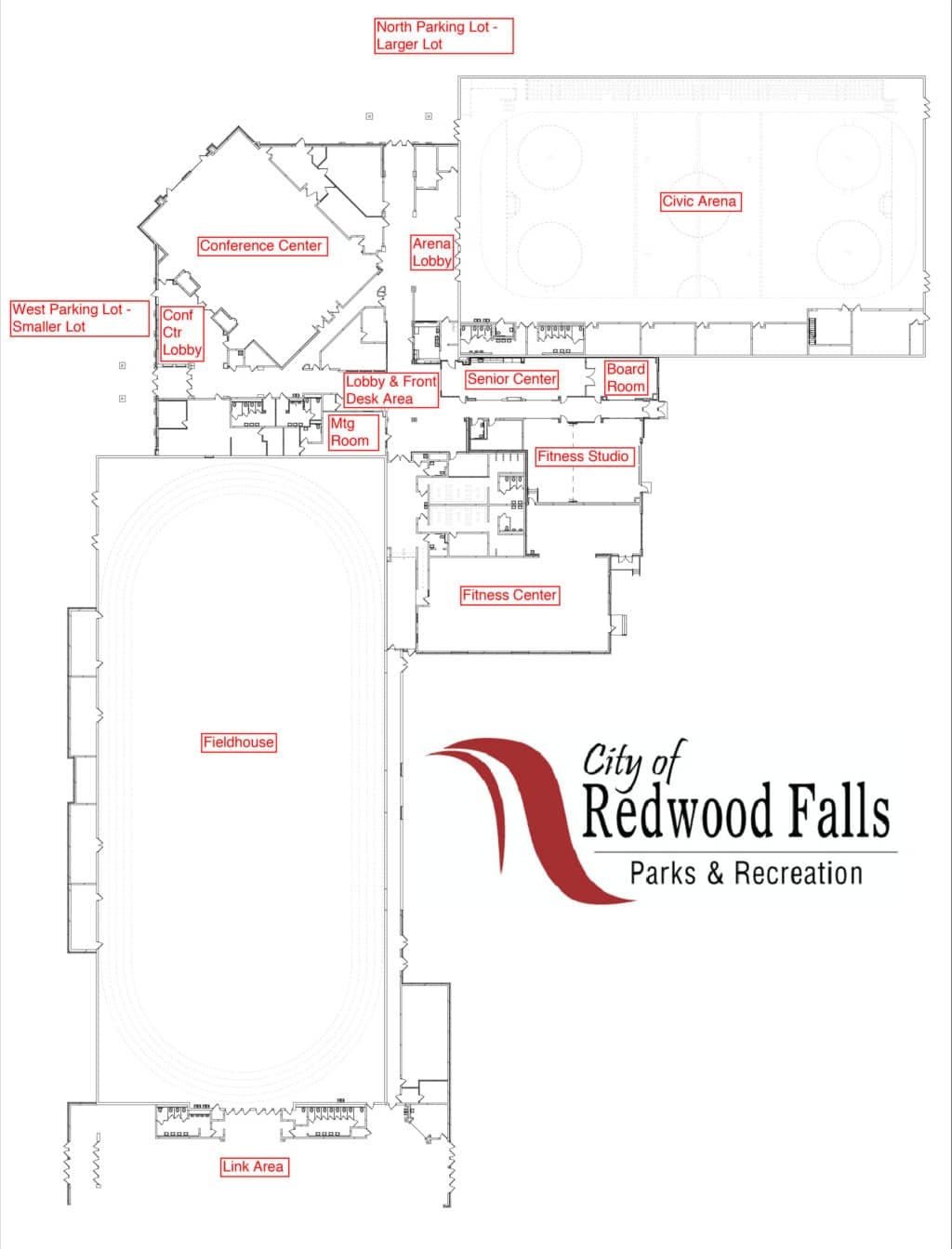 Racc floor plan redwood area community center for Area of a floor plan
